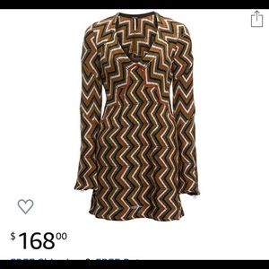 Free People brown knitted dress size Xs